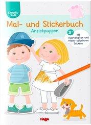 Mal- und Stickerbuch Anziehpuppen