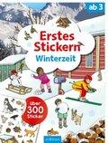Erstes Stickern Winterzeit