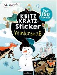 Kritzkratz-Sticker Winterspaß