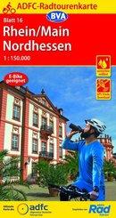 ADFC-Radtourenkarte 16 Rhein/Main Nordhessen 1:150.000, reiß- und wetterfest, GPS-Tracks Download