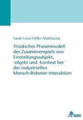 Triadisches Phasenmodell des Zusammenspiels von Einstellungssubjekt, -objekt und -kontext bei der industriellen Mensch-R