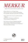 MERKUR Deutsche Zeitschrift für europäisches Denken - Nr.851