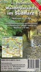 KKV Rad- und Wanderkarte Wanderparadies im Südharz