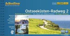 Ostseeküsten-Radweg: Mecklenburg-Vorpommern. Von Lübeck nach Ahlbeck /Usedom. Mit Rügen-Rundweg. 680 km, wetterfest/reißfest, GPS-Tracks Down; 2