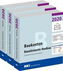 BKI Baukosten Gebäude, Positionen und Bauelemente Neubau 2020 - Teil 1-3