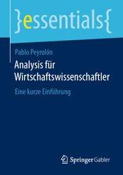 Analysis für Wirtschaftswissenschaftler