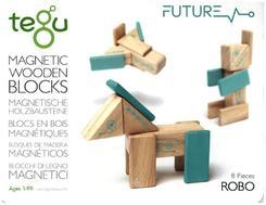 Tegu Magnetisches Holzset Robo 8 Teile