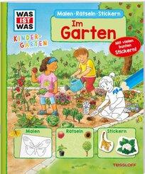 WAS IST WAS Kindergarten Malen Rätseln Stickern Im Garten.