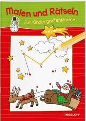 Malen und Rätseln für Kindergartenkinder - Weihnachten