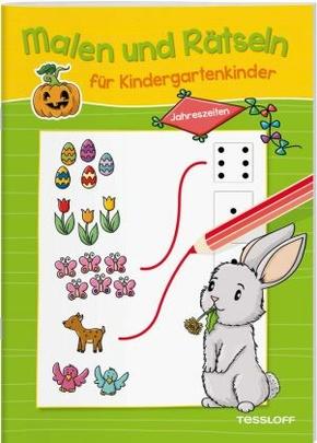 Malen und Rätseln für Kindergartenkinder - Jahreszeiten
