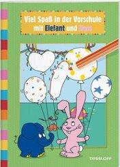 Viel Spaß in der Vorschule mit Elefant und Hase