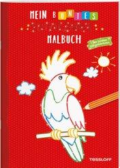 Mein buntes Glitzerzauber-Malbuch (Papagei)