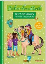 Sticker-Anziehbuch - Beste Freundinnen: Gemeinsam auf dem Reiterhof