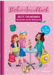 Sticker-Anziehbuch - Beste Freundinnen: Gemeinsam durchs Wochenende