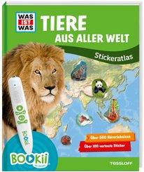 Was ist was Stickeratlas: Tiere aus aller Welt