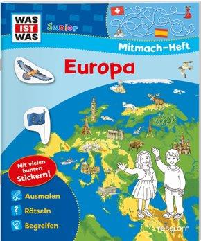 WAS IST WAS Junior Mitmach-Heft. Europa.