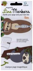 Line Markers Sloth/Faultier- Magnetische Lesezeichen
