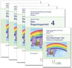 Myrtel und Bo: Regenbogenheft 1-4 Druckschrift + Das Zauberwald-ABC, 5 Bde.