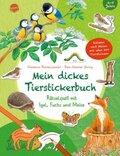 Mein dickes Tierstickerbuch. Rätselspaß mit Igel, Fuchs und Meise