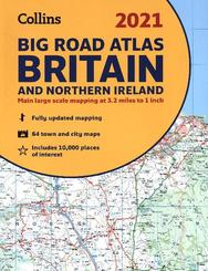 Collins Big Road Atlas Britain 2021