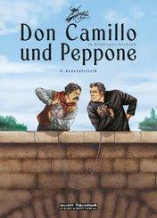 Don Camillo und Peppone in Bildergeschichten - Generalstreik