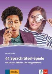 44 Sprachrätsel-Spiele für Einzel-, Partner- und Gruppenarbeit