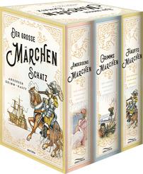 Der große Märchenschatz: Andersens Märchen - Grimms Märchen - Hauffs Märchen (3 Bände im Schuber)