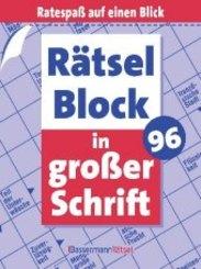 Rätselblock in großer Schrift - Bd.96