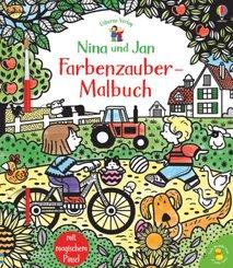 Nina und Jan - Farbenzauber-Malbuch; Teil 1
