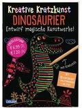 Kreative Kratzkunst: Dinosaurier, m. Kratzstift