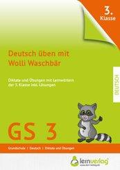 Deutsch üben mit Wolli Waschbär 3. Klasse