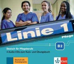 Linie 1: Pflege B2 - Medienpaket, 4 Audio-CD