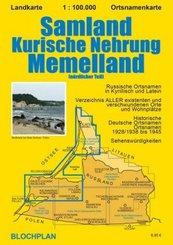 Landkarte Samland/Kurische Nehrung/Memelland