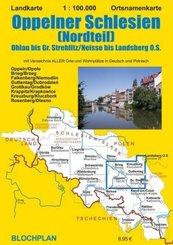 Landkarte Oppelner Schlesien (Nordteil)