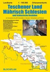 Landkarte Teschener Land/Mährisch Schlesien