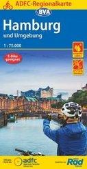 ADFC-Regionalkarte Hamburg und Umgebung 1:75.000