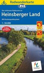 Radwanderkarte BVA Radwandern im Heinsberger Land 1:50.000, reiß- und wetterfest und mit GPS-Track-Download der ausgesch