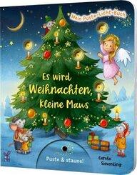Mein Puste-Licht-Buch: Es wird Weihnachten, kleine Maus