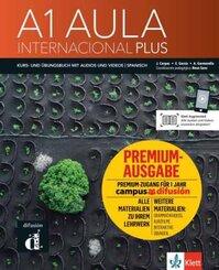 Aula Internacional Plus - Deutsche Ausgabe. Kurs- und Übungsbuch + Premium + Audios und Videos online - Bd.1