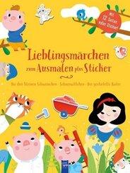 Lieblingsmärchen zum Ausmalen plus Sticker (gelb)