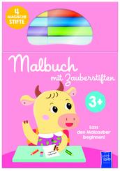 Malbuch mit Zauberstiften pink