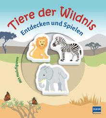 Tiere der Wildnis (Pappbilderbuch + 3 Holzfiguren), m. 3 Beilage