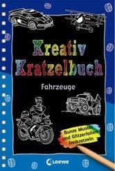 Kreativ-Kratzelbuch: Fahrzeuge