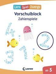 LernSpielZwerge Vorschulblock - Zahlenspiele