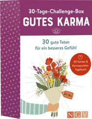 30-Tage-Challenge-Box Gutes Karma, 30 Karten & Karmapunkte-Tagebuch