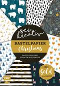 Sei kreativ! - Bastelpapier Christmas - Bastelideen und 30 Bogen Motivpapier in 2 Stärken (120 g/qm, 250 g/qm); .