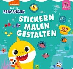 Baby Shark: Stickern, Malen, Gestalten