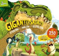 Gigantosaurus Stickern - Malen - Gestalten; 63