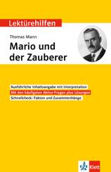 Lektürehilfen Thomas Mann, Mario und der Zauberer
