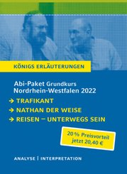 Abi-Paket Grundkurs Nordrhein-Westfalen 2022 - Königs Erläuterungen, 3 Bde.
